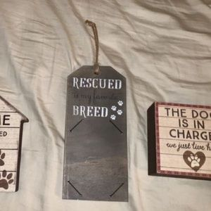 """""""Rescued is my favorite breed"""" to Wall decor"""